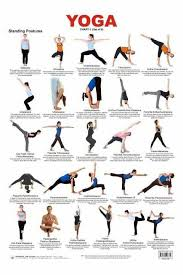 Basic Yoga Poses Chart Standing Poses Repined By Www Banyantreeyoganh Com Yoga
