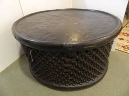african drum coffee table antiques of river oaks houston tx dsc