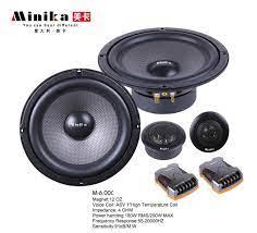 Minika 6.5inch Car Audio Speaker Component 4ohm 250W with Tweeter Cross  Over 2 Way HIFI Car Speaker Set Coaxial speakers