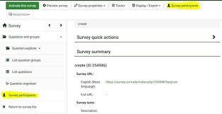 Printable Surveys Delectable LimeSurvey User Guide Survey Solutions University Of Vermont