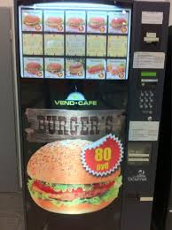 Junk Food Vending Machines Unique Burger Vending Machine In Moscow Cool Stuff Pinterest Vending