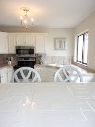 White Floor Tile Kitchen Livelovediy How To Paint Tile Countertops