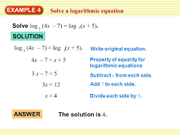 1 example 4 solve a logarithmic equation