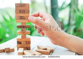 Game Played With Wooden Blocks Asian Man Hand Playing Wood Blocks Stock Photo 100 71
