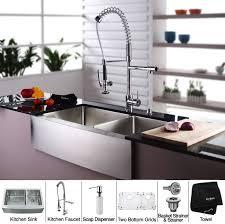 kraus kitchen combo series khf20336kpf1602ksd30ch sink and accessories