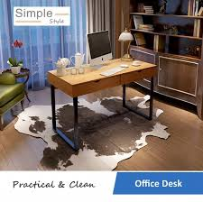 simple ikea home office. Simple Ikea Home Office. Delighful Modern Office Style Drawer Desk Table Maple100cm W