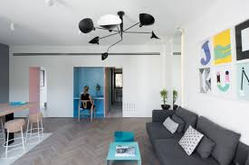 Small Apartment Refreshed With Color And A New Interior Design