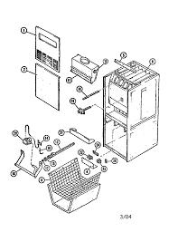 Unit diagram and parts list for lennox furnace parts model g12 82 8