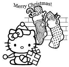 Small Picture Hello Kitty Coloring Pages Christmas Christmas Coloring Pages