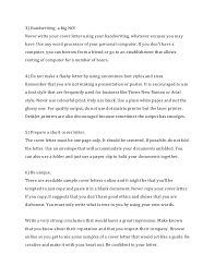 Big Four Cover Letter How To Write A Cover Letter For A Resume