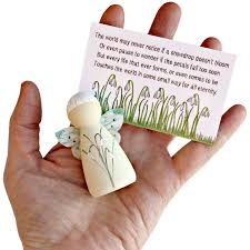 feather bereavement gifts fairy peg doll gift peg dolls