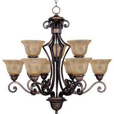 symphony 9 light oil rubbed bronze chandelier