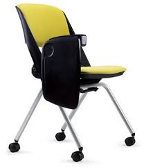 tablet arm chair. OAR 4-Leg Nesting Chair With Tablet Arm Image T