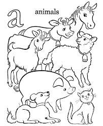 Small Picture Alphabet Coloring Pages Letter A lc Free printable farm