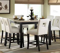 stylish dining room design with 7 piece archstone white counter height kitchen table set piece dining room set s1