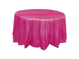 disposable tablecloth round pe table cover oil stain resistant table cloth protector 84 inch fushsia