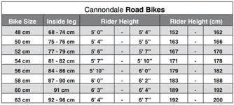 42 Correct Cannondale Scalpel Size Chart