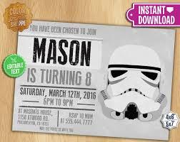 Star Wars Birthday Invitations Printable Star Wars Invitation Editable Text Stormtrooper Customizable