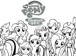 My Little Pony Characters Coloring Pages Sea Ponies Princess