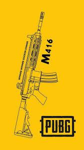 M416 Pubg A Wallpaper Ponsel Fotografi Dan Kartu