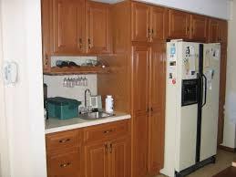 lovely brown wooden dark oak wood kitchen cabinets