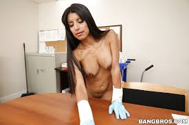 Big tits office maid