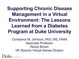 Constance Johnson & Randy Brown - Supporting Chronic Disease Manageme…