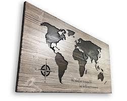 world map wall art wooden map wood wall