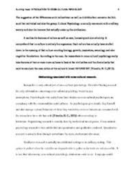 introduction to psychology essay introduction to psychology essay  introduction to cross cultural psychology paper introduction to cross cultural psychologystudent institutional affiliationintroductionaccording to triandis