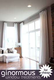 cheap window treatments. Make Extra Long Curtains Using Inexpensive Bed Bath And Beyond Basic 120\ Cheap Window Treatments I