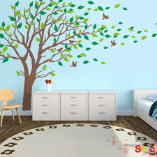 amazon large tree blowing in the wind tree wall decals wall sticker vinyl art kids rooms teen girls boys wallpaper murals sticker wall stickers nursery  on tree wall art baby nursery with amazon large tree blowing in the wind tree wall decals wall