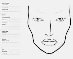 mac makeup face charts templates