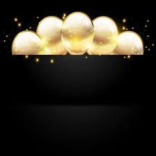 Golden Balloon With Black Birthday Background 02 Free Download