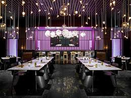 Comely Pendant Lamps Feats With Modern Restaurant Furniture And Astonishing  Wall Decor