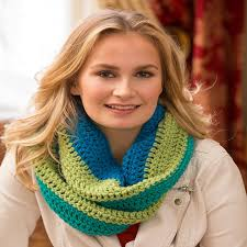Redheart Free Crochet Patterns Simple Paradise Infinity Cowl Red Heart