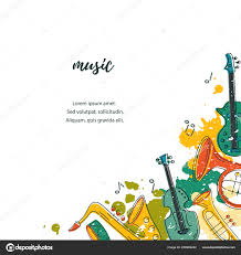 Concert Invite Template Template Music Festival Jazz Party Invitation Greeting Card