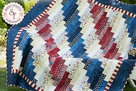 Patriotic Quilt Patterns Gorgeous Standing Strong Patriotic Jellyroll Quilt Free PDF Pattern From