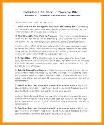 30 Sec Elevator Speech Elevator Speech Template Feat Pitch Examples For Students To Frame