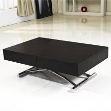Table basse relevable extensible Elena bois noir - Achat / Vente ...
