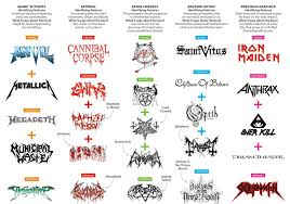 Greatest Hits Of 2012 No 4 Heavy Metal Band Logos 101
