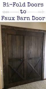 take a bifold door and turn it into a faux