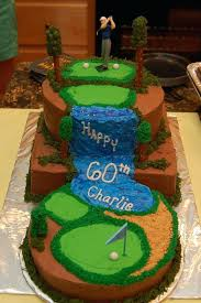 Mini Golf Birthday Cake Ideas Golf Cake Except For A Young Guy