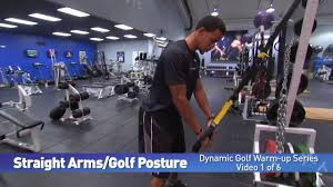 1 of 6 straight arms golf posture trx golf warm