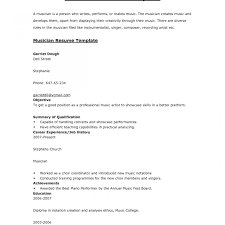 Amazing Musician Resume Samples Ensign Documentation Template