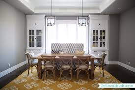 Formal Dining Room Dining Room Decor Update Bench Chairs Pillows The Sunny Side