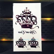 1pc Top Quality Queen Crown Temorary Tattoo Stickers Waterproof Paq