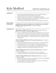 Research Resume Samples Cv Template Research Assistant Resume Examples