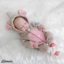 "Spencer 11"" <b>28cm</b> Realistic Reborn Baby Doll Full Body Silicone ..."