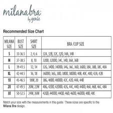 Milana Bra Size Chart Milana Lace Bra Slim Sport