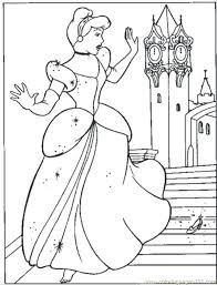 Cinderella Coloring Pages Free Coloring Pages Free For Kids Disney